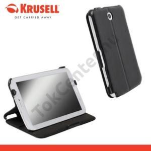 Samsung Galaxy Note 8.0 (GT-N5100) KRUSELL DONSÖ bőrtok (FLIP, asztali tartó funkció) FEKETE