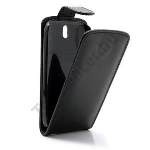 HTC One ST (T528T) Tok álló, bőr (FLIP, mágneses) FEKETE