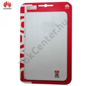 Huawei Mediapad T1 10 (T1-A21w) Tok álló, bőr (FLIP, oldalra nyíló) FEHÉR