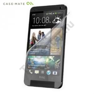 HTC One Mini (M4) CASE-MATE képernyővédő fólia (2 db-os, törlőkendővel) CLEAR