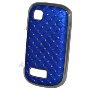 Nokia 200 Asha Műanyag telefonvédő (strasszkő) KÉK