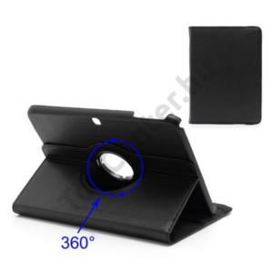 Samsung Galaxy Tab3 10.1 (P5200) Tok álló, bőr, Flip, (asztali tartó funkció, 360°-ban forgatható) FEKETE