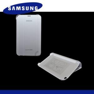 Samsung Galaxy Tab3 8.0 (SM-T310) Műanyag telefonvédő (FLIP, oldalra nyíló, asztali tartó funkció) FEHÉR