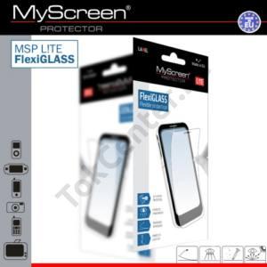 LG K3 (K100) MSP L!TE képernyővédő fólia törlőkendővel (1 db-os, üveg, karcálló, ütésálló, 6H, 0.19mm vékony) FLEXI GLASS CLEAR