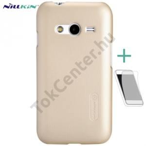 Samsung Galaxy Ace NXT (SM-G313H) NILLKIN SUPER FROSTED műanyag telefonvédő (gumírozott, érdes felület, képernyővédő fólia, tisztítókendő) ARANY