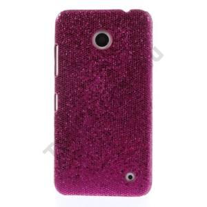 Nokia Lumia 630 Műanyag telefonvédő (csillogó, flitteres) MAGENTA