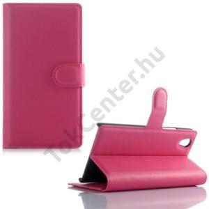 Lenovo P70 Tok álló, bőr (FLIP, oldalra nyíló, asztali tartó funkció) MAGENTA