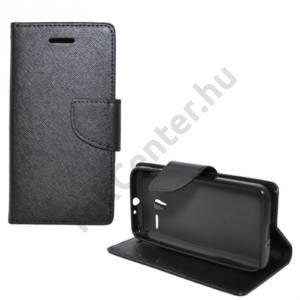 Alcatel Pixi 3 (4.5) ; (OT-4027D) Tok álló, bőr (FLIP, oldalra nyíló, asztali tartó funkció) FEKETE