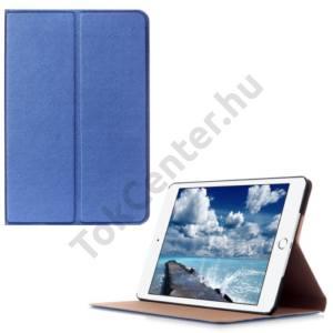 Apple IPAD mini 4 Tok álló, bőr (FLIP, oldalra nyíló, asztali tartó funkció) SÖTÉTKÉK
