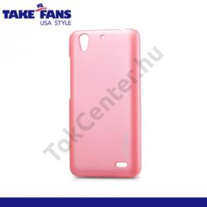 Huawei Ascend G630 TAKEFANS Colourful műanyag telefonvédő RÓZSASZÍN
