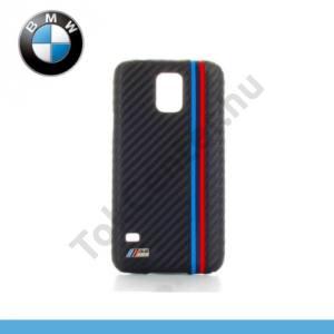 Samsung Galaxy S V. (SM-G900) BMW M műanyag telefonvédő (karbon minta) FEKETE