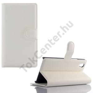 Lenovo P70 Tok álló, bőr (FLIP, oldalra nyíló, asztali tartó funkció) FEHÉR
