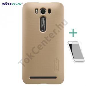 Asus Zenfone 2 Laser 5`` (ZE500KL) NILLKIN SUPER FROSTED műanyag telefonvédő (gumírozott, érdes felület, képernyővédő fólia) ARANY