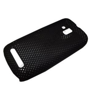 Nokia Lumia 610 Műanyag telefonvédő lyukacsos FEKETE