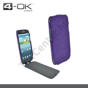 Samsung Galaxy S IV. (GT-I9500) 4-OK tok álló, bőr, FLIP, SLIMKLAP, LILA