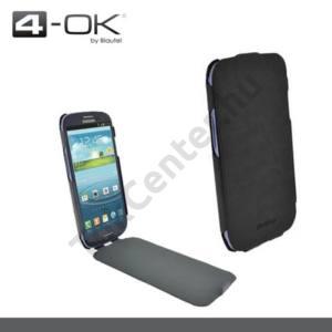 Samsung Galaxy S IV. (GT-I9500) 4-OK tok álló, bőr, FLIP, SLIMKLAP, FEKETE