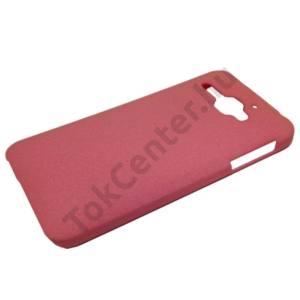 Alcatel Star (OT-6010D) Műanyag telefonvédő (gumírozott, érdes felületű) RÓZSASZÍN
