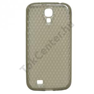 Samsung Galaxy S IV. (GT-I9500) Telefonvédő gumi / szilikon (gyémántmintás) FÜSTSZÍNŰ