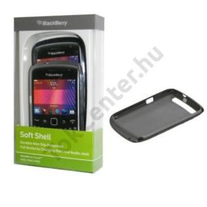BlackBerry 9360 Curve Műanyag telefonvédő (2 db-os) FEKETE ÁTLÁTSZÓ