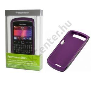 BlackBerry 9360 Curve Műanyag telefonvédő, gumi / szilkon szegély FEKETE / LILA