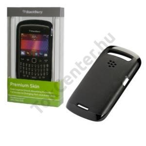 BlackBerry 9360 Curve Műanyag telefonvédő, gumi / szilkon szegély FEKETE