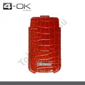 K-OK tok álló  (krokodilbőr minta, patentos) (T1) SKEEN, PIROS