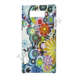 LG Optimus L7 (P700) Műanyag telefonvédő (gumírozott) VIRÁGMINTÁS