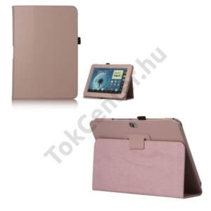 Samsung Galaxy Note 10.1 (GT-N8000) Tok álló, bőr (FLIP, REJTETT mágneses, asztali tartó funkció) RÓZSASZÍN