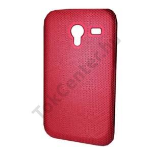 Samsung Galaxy Ace 2 (GT-I8160) Műanyag telefonvédő (lyukacsos mintás) PIROS
