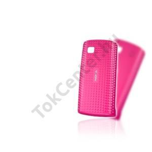 Nokia 500  Műanyag telefonvédő (akkufedél, kocka mintás) MAGENTA