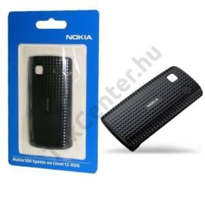 Nokia 500  Műanyag telefonvédő (akkufedél, kocka mintás) FEKETE