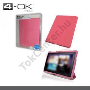 Samsung Galaxy Tab 10.1 (P7500) K-OK tok álló (FLIP, műanyag, asztali tartó funkció) RÓZSASZÍN