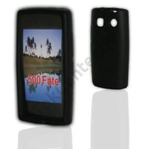 Nokia 500  Telefonvédő gumi / szilikon FEKETE