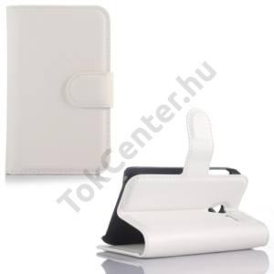 Alcatel Pixi 3 (3.5) ; (OT-4009) Tok álló, bőr (FLIP, oldalra nyíló, asztali tartó funkció) FEHÉR