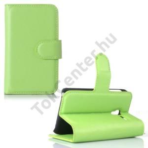 Alcatel Pixi 3 (3.5) ; (OT-4009) Tok álló, bőr (FLIP, oldalra nyíló, asztali tartó funkció) ZÖLD