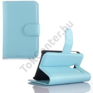 Alcatel Pixi 3 (3.5) ; (OT-4009) Tok álló, bőr (FLIP, oldalra nyíló, asztali tartó funkció) KÉK