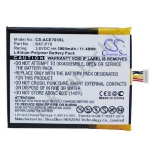 Acer Liquid E700 Trio Akku 3000 mAh LI-Polymer (BAT-P10 kompatibilis)