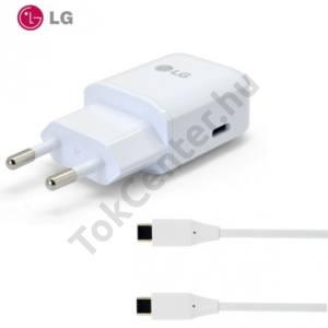 Hálózati töltő USB aljzat (5V / 3000mA, EAD63687001 kábel) FEHÉR