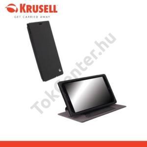 Nokia Lumia 1520 KRUSELL FlipCover MALMÖ, műanyag telefonvédő (oldalra nyíló bőr flip, asztali tartó funkció, bankkáryta tartó) FEKETE