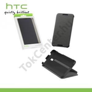 HTC Desire 610 Műanyag telefonvédő (FLIP, oldalra nyíló) SZÜRKE