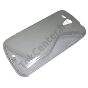 Huawei Ascend G300 (U8815) Telefonvédő gumi / szilikon (S-line) ÁTLÁTSZÓ