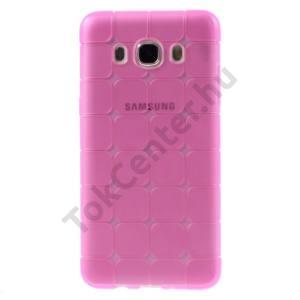 Samsung Galaxy J5 (2016) (SM-J510) Telefonvédő gumi / szilikon (kockaminta) RÓZSASZÍN