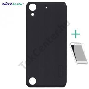 NILLKIN SUPER FROSTED műanyag telefonvédő (gumírozott, érdes felület, képernyővédő fólia) FEKETE