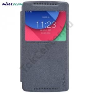 Lenovo A7010 / Lenovo Vibe X3 NILLKIN SPARKLE műanyag telefonvédő (mikroszálas bőr flip, oldalra nyíló, hívószámkijelzés, S-View Cover) FEKETE