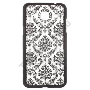 Samsung Galaxy J3 (2016) (SM-J320) Műanyag telefonvédő (damaszkuszi virágminta) FEKETE