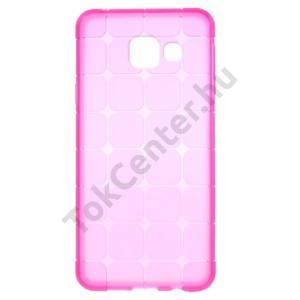 Samsung Galaxy A3 (2016) (SM-A310F) Telefonvédő gumi / szilikon (kockaminta) RÓZSASZÍN