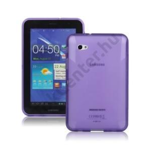 Samsung Galaxy Tab 7.0 Plus (P6200) Telefonvédő gumi / szilikon (X-line) LILA