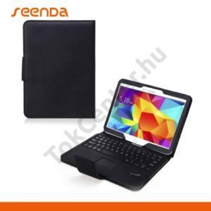 Samsung Galaxy Tab S 8.4 LTE (SM-T705) SEENDA tok álló, bőr (FLIP, BLUETOOTH billentyűzet, asztali tartó, QWERTY, angol nyelvű) FEKETE