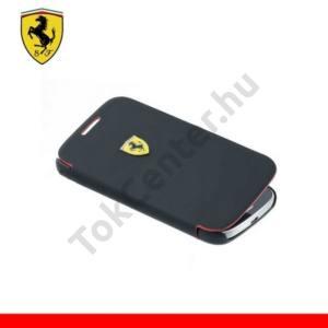 Samsung Galaxy S IV. mini (GT-I9190) Ferrari Scuderia tok álló, bőr (FLIP, mágneses, oldalra nyíló) FEKETE