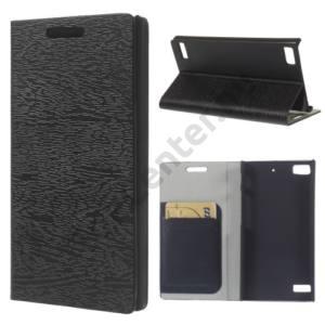 BlackBerry Z3 Tok álló, bőr (FLIP, oldalra nyíló, bankkártya tartó, asztali tartó funkció, kéregmintás) FEKETE